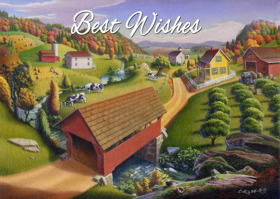 Friendship Painting - no1 Best Wishes by Walt Curlee