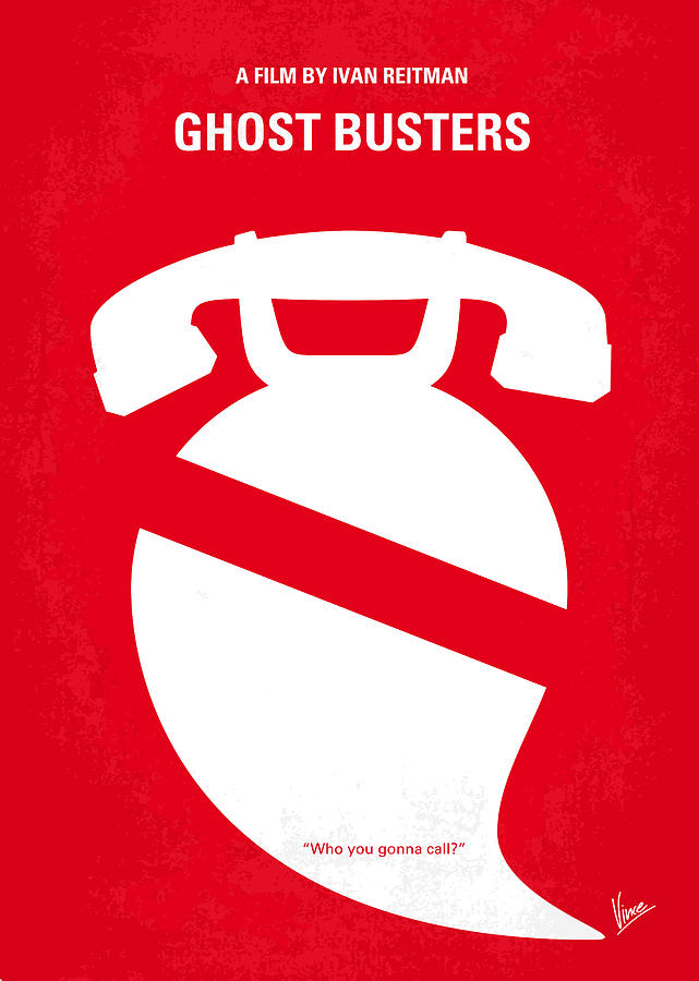 No104 My Ghostbusters Minimal Movie Poster Digital Art