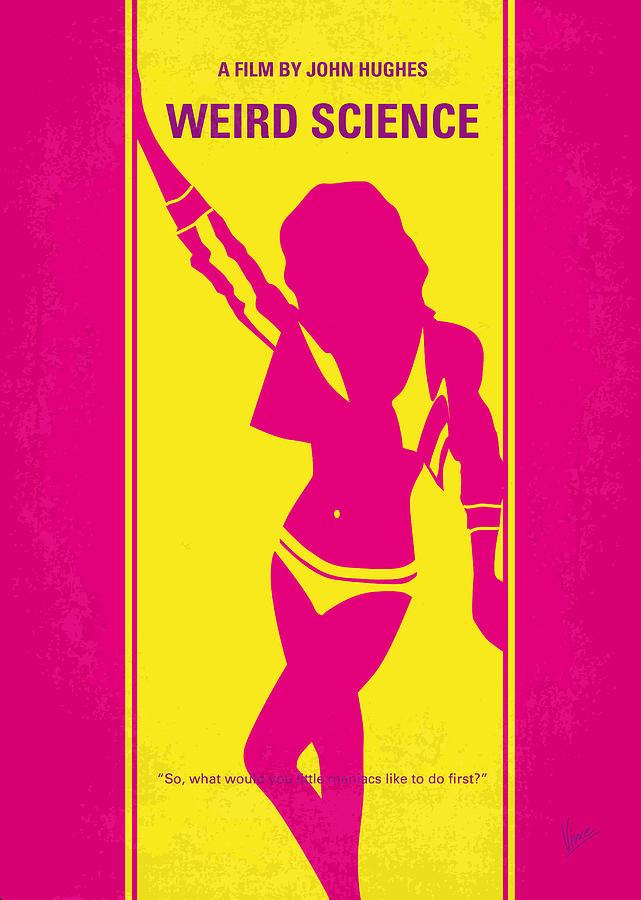 No106 My Weird Science Minimal Movie Poster Digital Art