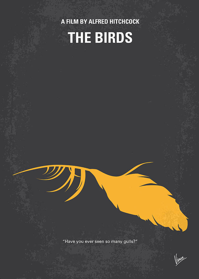 No110 My Birds Movie Poster Digital Art  - No110 My Birds Movie Poster Fine Art Print