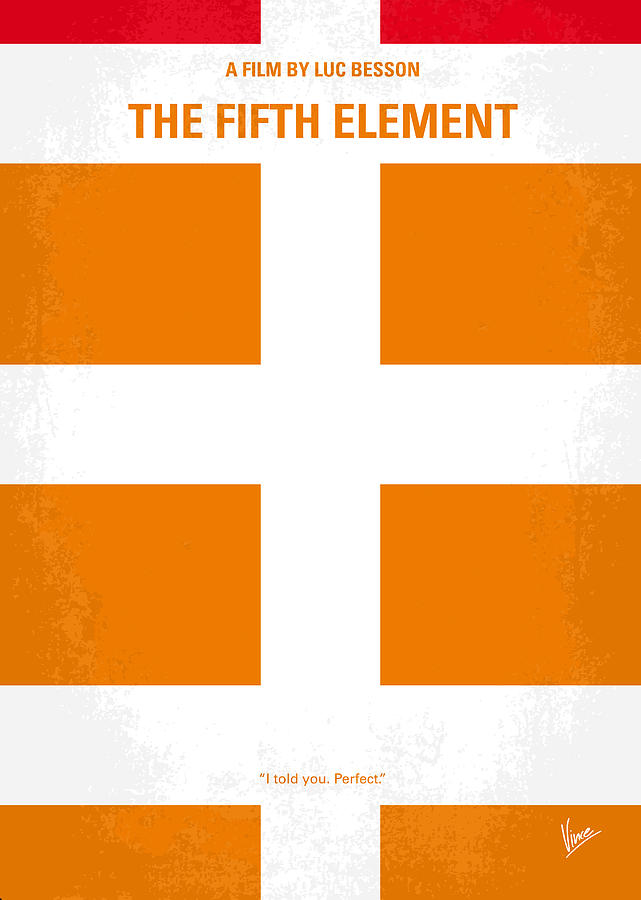 No112 My Fifth Element Minimal Movie Poster Digital Art  - No112 My Fifth Element Minimal Movie Poster Fine Art Print