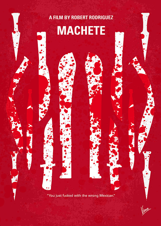 No114 My Machete Minimal Movie Poster Digital Art