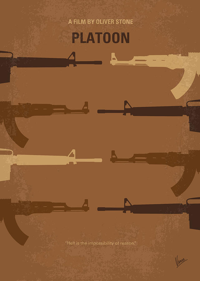 No115 My Platoon Minimal Movie Poster Digital Art