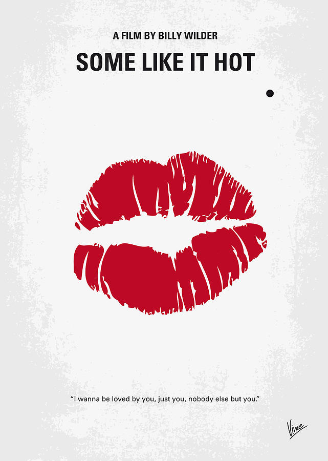 No116 My Some Like It Hot Minimal Movie Poster Digital Art  - No116 My Some Like It Hot Minimal Movie Poster Fine Art Print