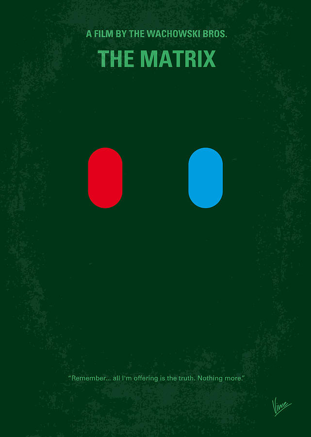 No117 My Matrix Minimal Movie Poster Digital Art