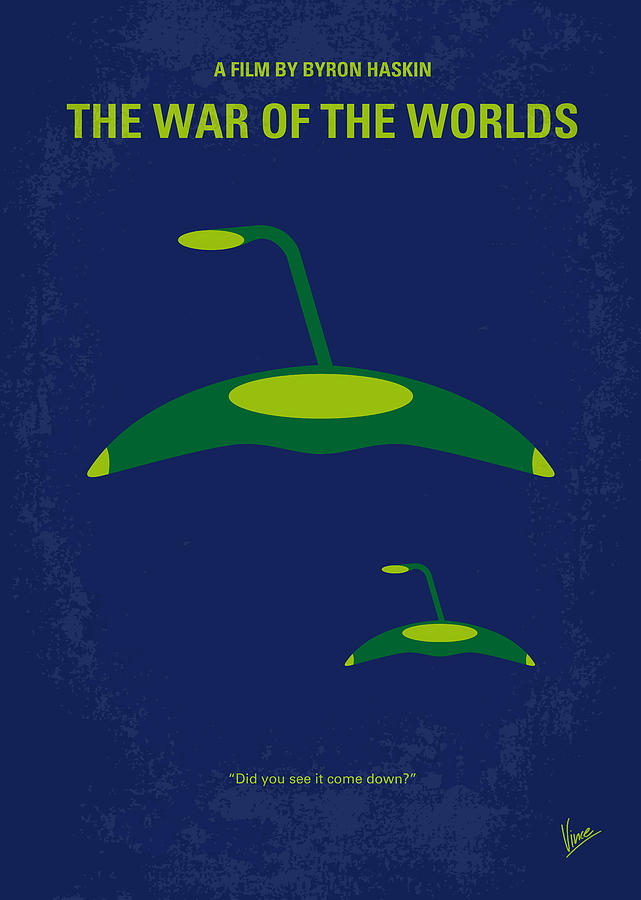 No118 My War Of The Worlds Minimal Movie Poster Digital Art
