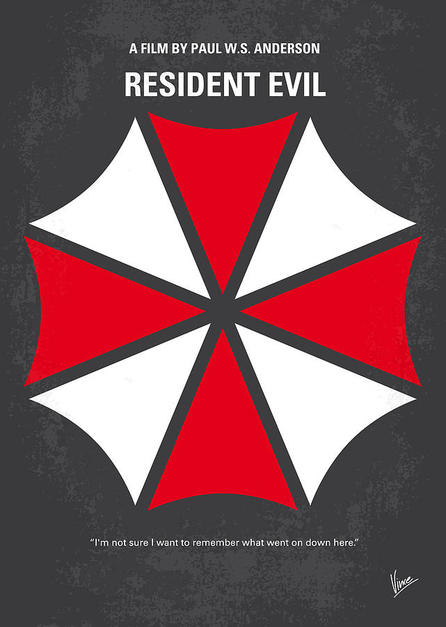 No119 My Resident Evil Minimal Movie Poster Digital Art  - No119 My Resident Evil Minimal Movie Poster Fine Art Print