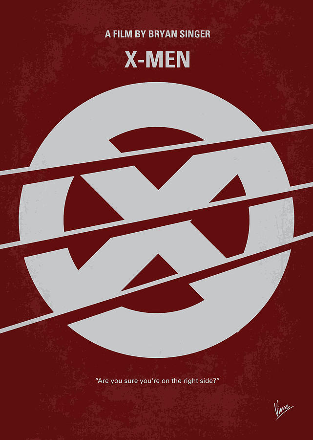 No123 My Xmen Minimal Movie Poster Digital Art