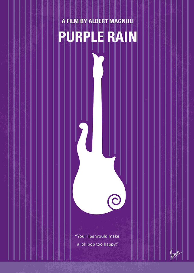 No124 My Purple Rain Minimal Movie Poster Digital Art