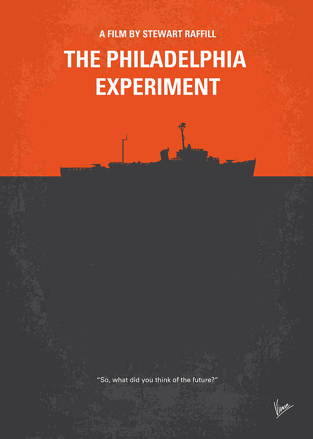 No126 My The Philadelphia Experiment Minimal Movie Poster Digital Art