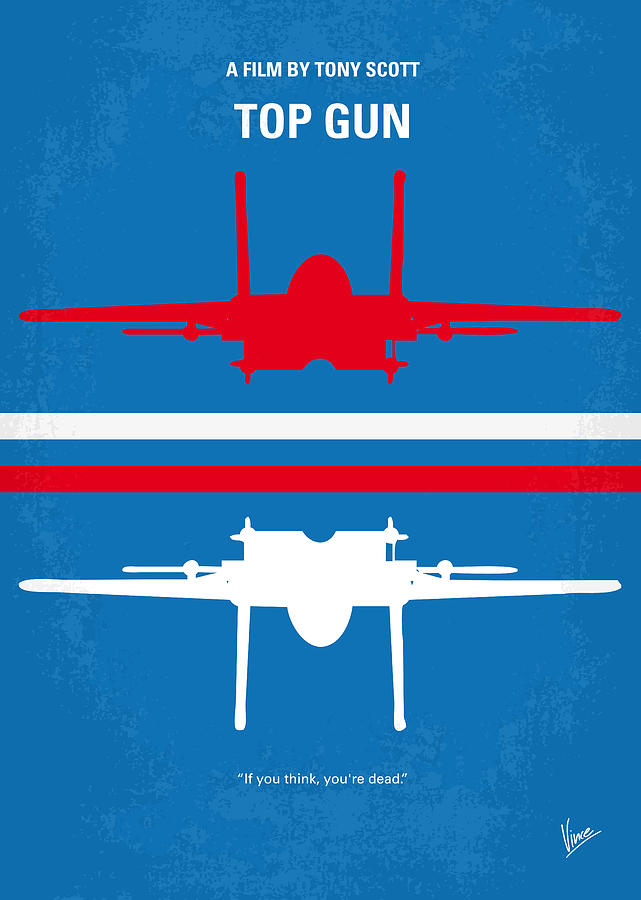 No128 My Top Gun Minimal Movie Poster Digital Art