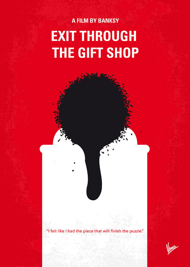 No130 My Exit Through The Gift Shop Minimal Movie Poster Digital Art
