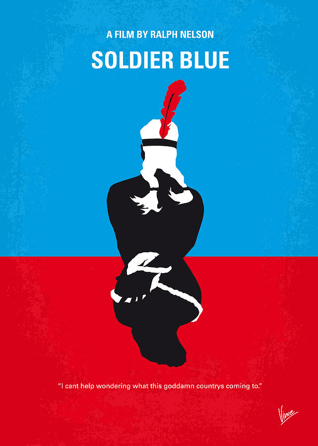 No136 My Soldier Blue Minimal Movie Poster Digital Art