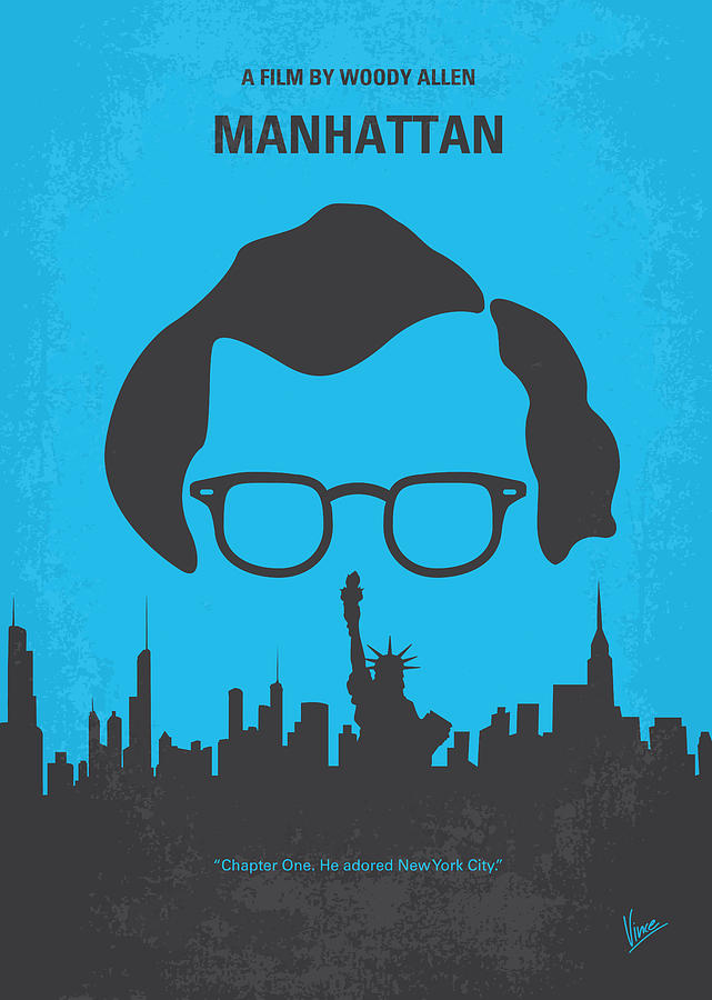 No146 My Manhattan Minimal Movie Poster Digital Art