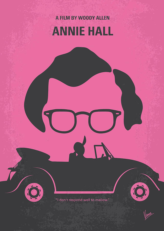 No147 My Annie Hall Minimal Movie Poster Digital Art  - No147 My Annie Hall Minimal Movie Poster Fine Art Print