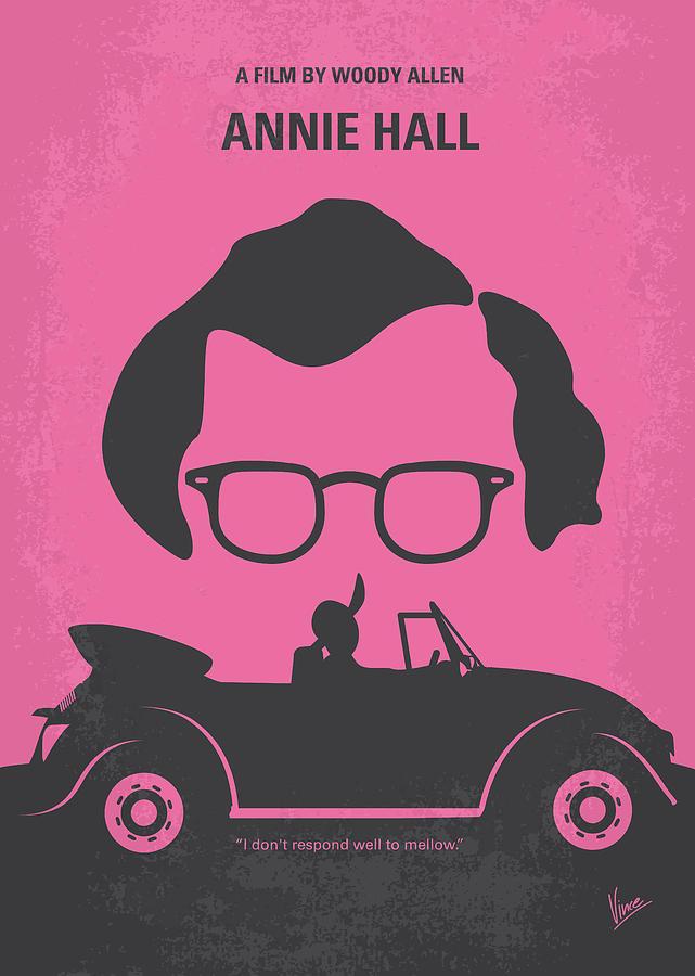 No147 My Annie Hall Minimal Movie Poster Digital Art