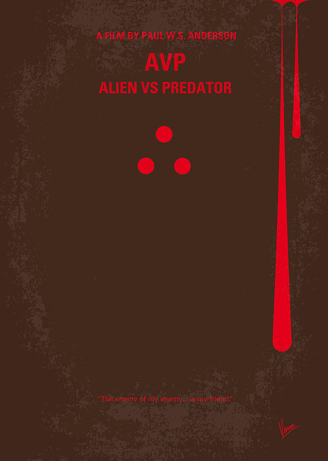 No148 My Avp Minimal Movie Poster Digital Art