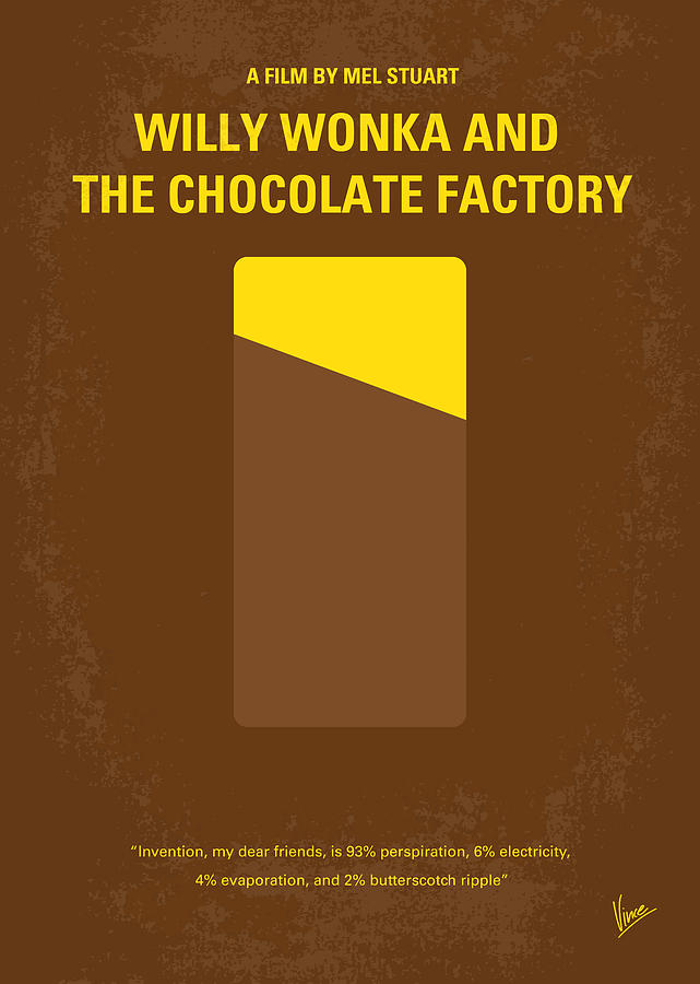 No149 My Willy Wonka And The Chocolate Factory Minimal Movie Poster Digital Art