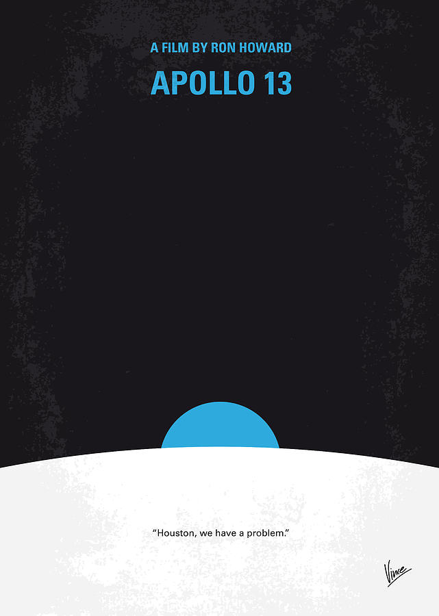 No151 My Apollo 13 Minimal Movie Poster Digital Art