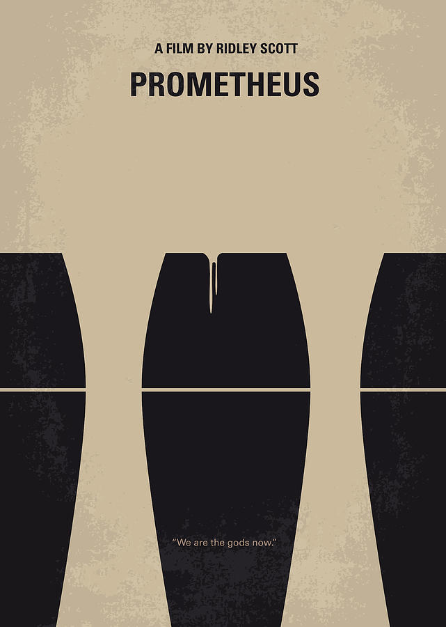 No157 My Prometheus Minimal Movie Poster Digital Art