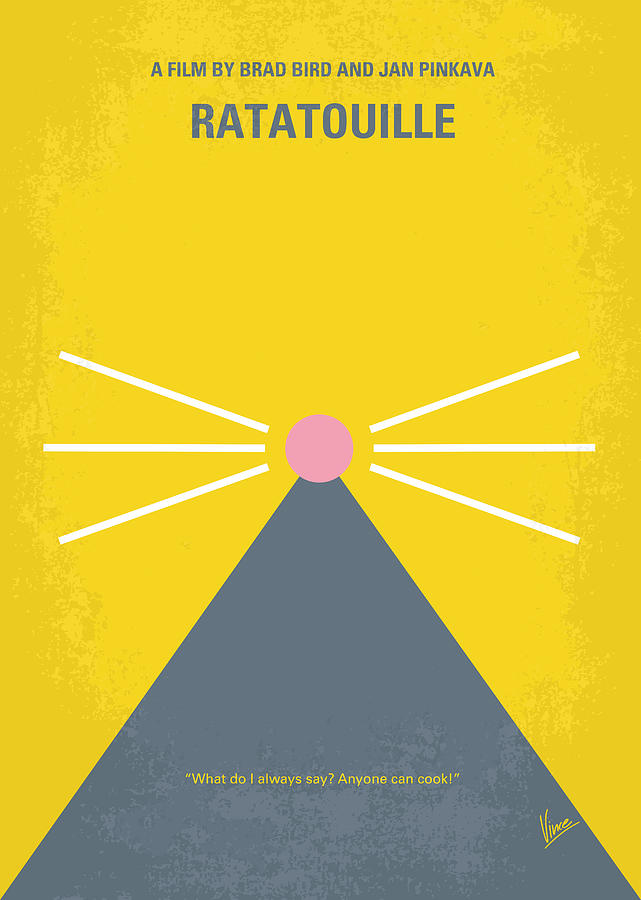 No163 My Ratatouille Minimal Movie Poster  Digital Art  - No163 My Ratatouille Minimal Movie Poster  Fine Art Print