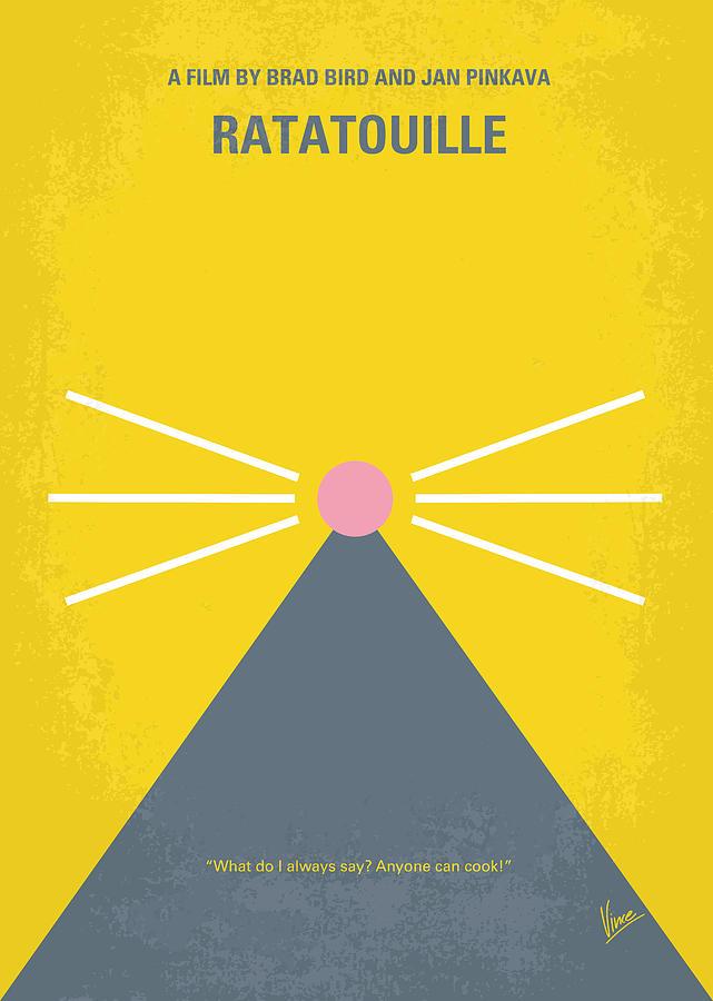 No163 My Ratatouille Minimal Movie Poster  Digital Art