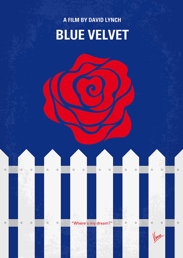 No170 My Blue Velvet Minimal Movie Poster Digital Art
