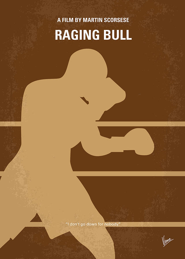 No174 My Raging Bull Minimal Movie Poster Digital Art  - No174 My Raging Bull Minimal Movie Poster Fine Art Print
