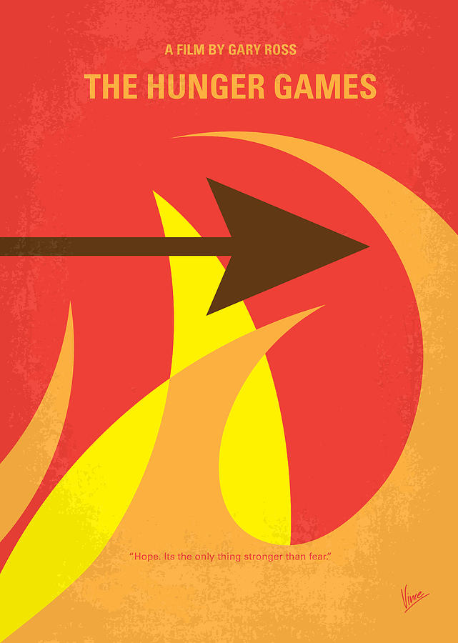 No175 My Hunger Games Minimal Movie Poster Digital Art  - No175 My Hunger Games Minimal Movie Poster Fine Art Print