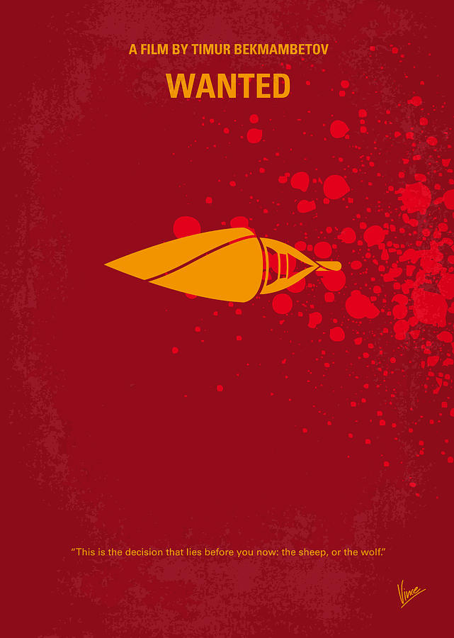 No176 My Wanted Minimal Movie Poster Digital Art  - No176 My Wanted Minimal Movie Poster Fine Art Print