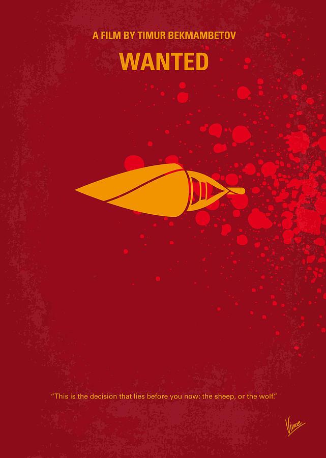 No176 My Wanted Minimal Movie Poster Digital Art