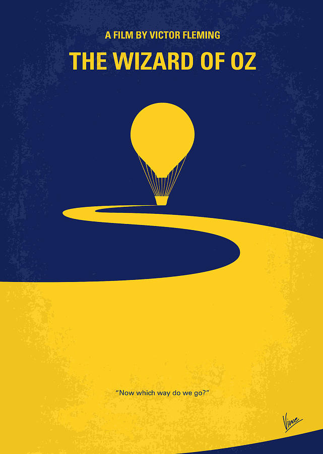 No177 My Wizard Of Oz Minimal Movie Poster Digital Art