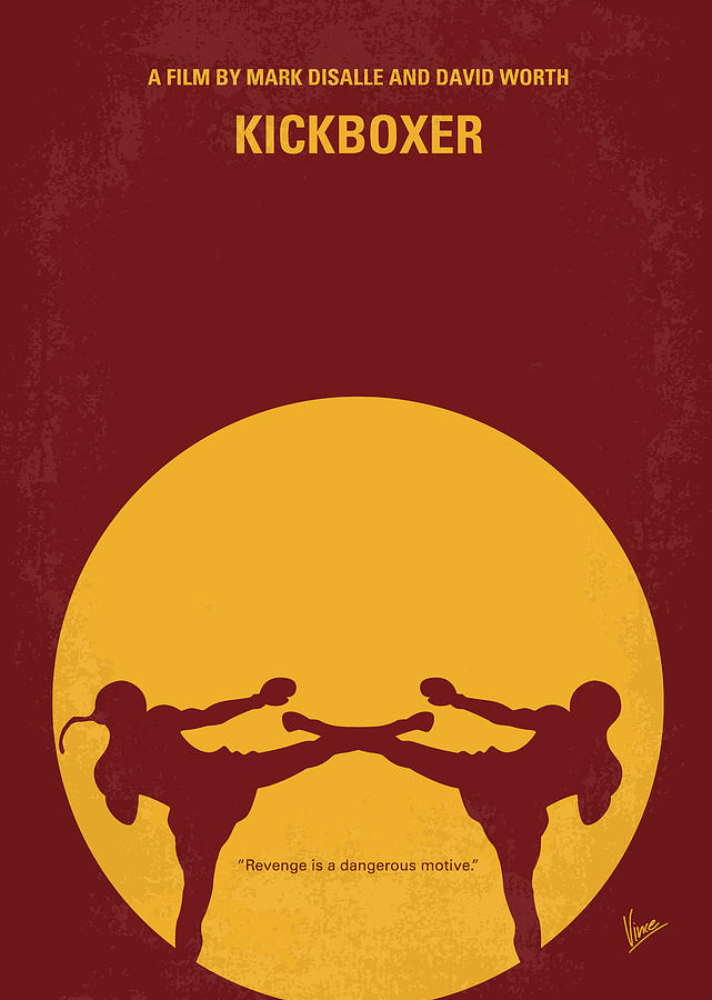 No178 My Kickboxer Minimal Movie Poster Digital Art
