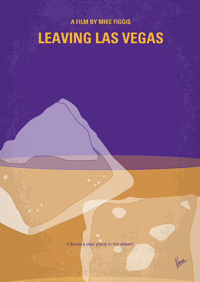 No180 My Leaving Las Vegas Minimal Movie Poster Digital Art  - No180 My Leaving Las Vegas Minimal Movie Poster Fine Art Print