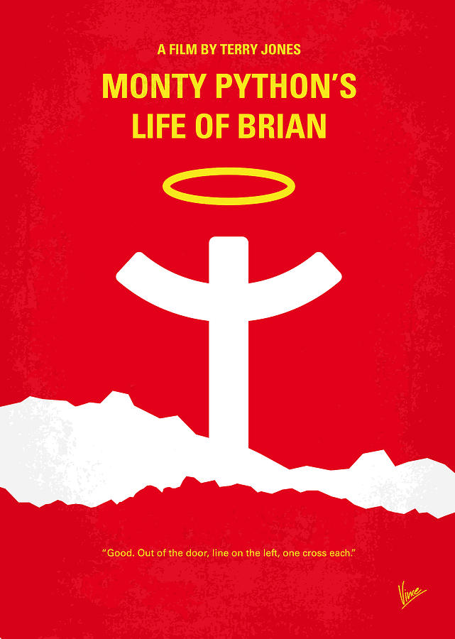 No182 My Monty Python Life Of Brian Minimal Movie Poster Digital Art