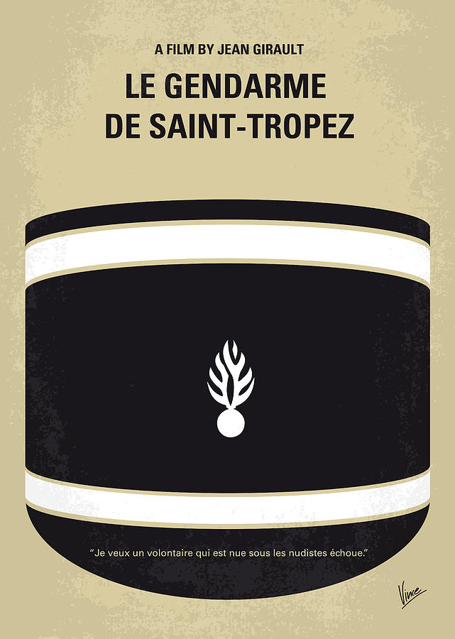 No186 My Le Gendarme De Saint-tropez Minimal Movie Poster Digital Art