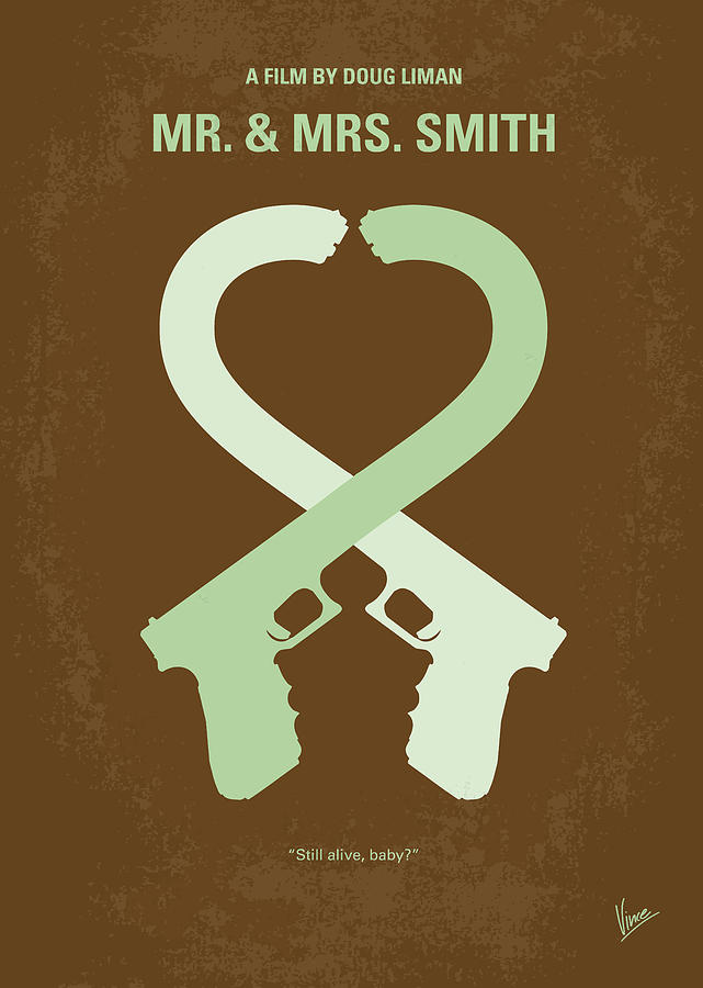 No187 My Mr And Mrs. Smith Minimal Movie Poster Digital Art