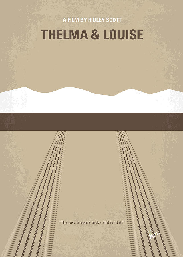No189 My Thelma And Louise Minimal Movie Poster Digital Art