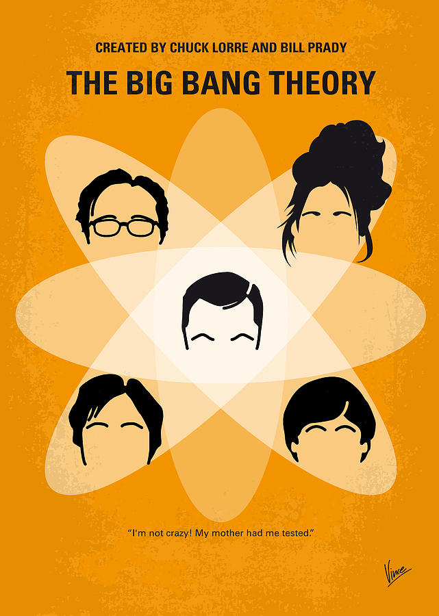 No196 My The Big Bang Theory Minimal Poster Digital Art  - No196 My The Big Bang Theory Minimal Poster Fine Art Print