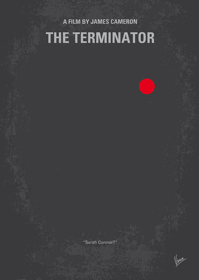 No199 My Terminator Minimal Movie Poster Digital Art  - No199 My Terminator Minimal Movie Poster Fine Art Print