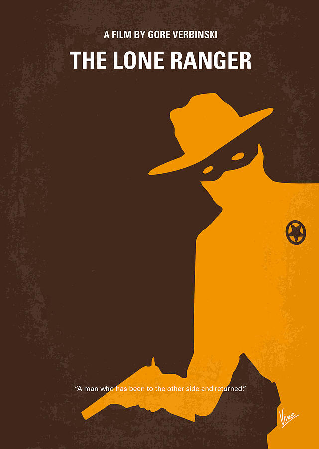 No202 My The Lone Ranger Minimal Movie Poster Digital Art