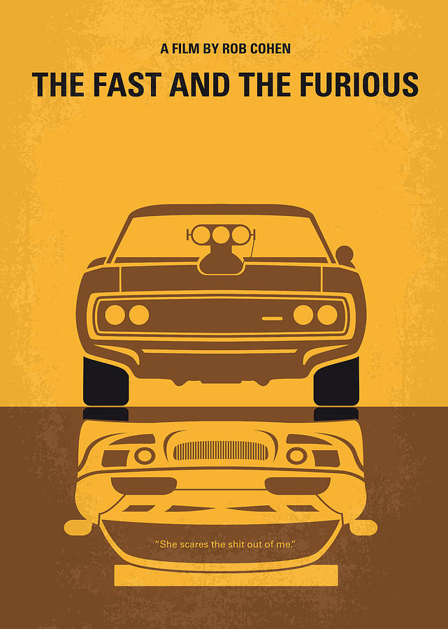 No207 My The Fast And The Furious Minimal Movie Poster Digital Art  - No207 My The Fast And The Furious Minimal Movie Poster Fine Art Print