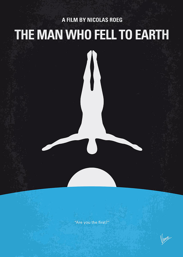 No208 My The Man Who Fell To Earth Minimal Movie Poster Digital Art