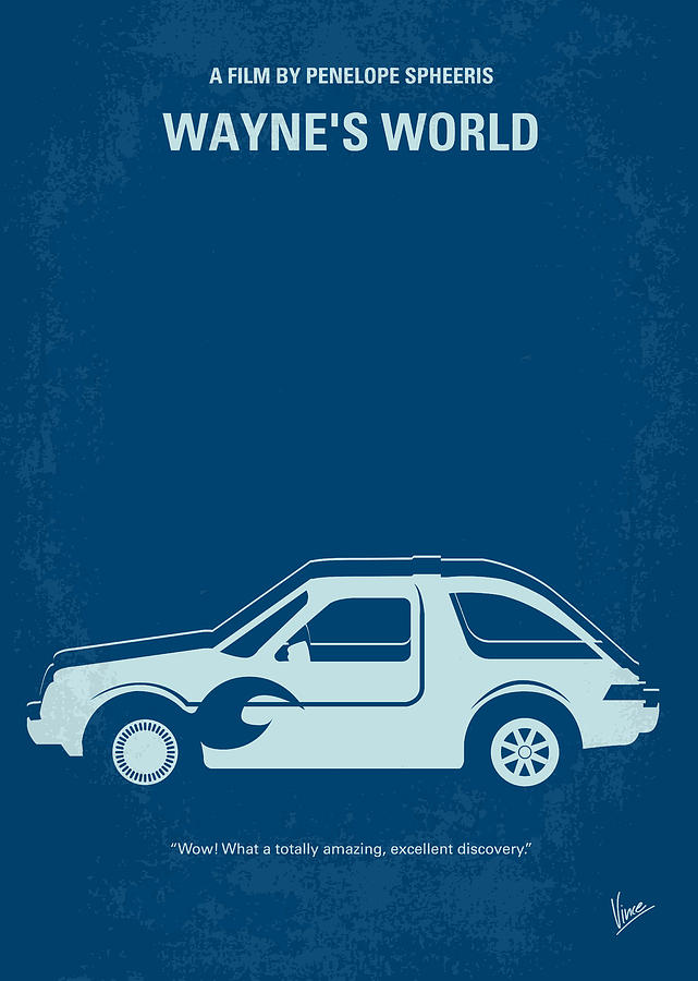 No211 My Waynes World Minimal Movie Poster Digital Art
