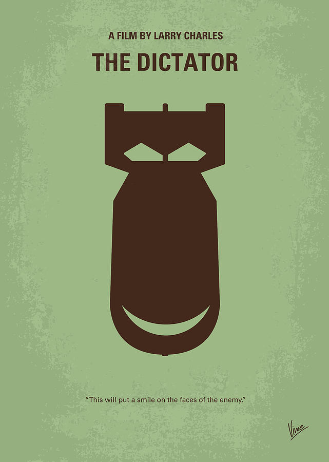The Digital Art - No212 My The Dictator Minimal Movie Poster by Chungkong Art