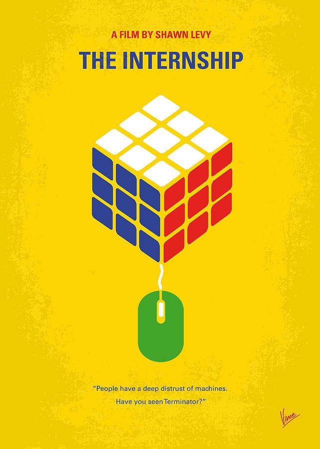 No215 My The Internship Minimal Movie Poster Digital Art
