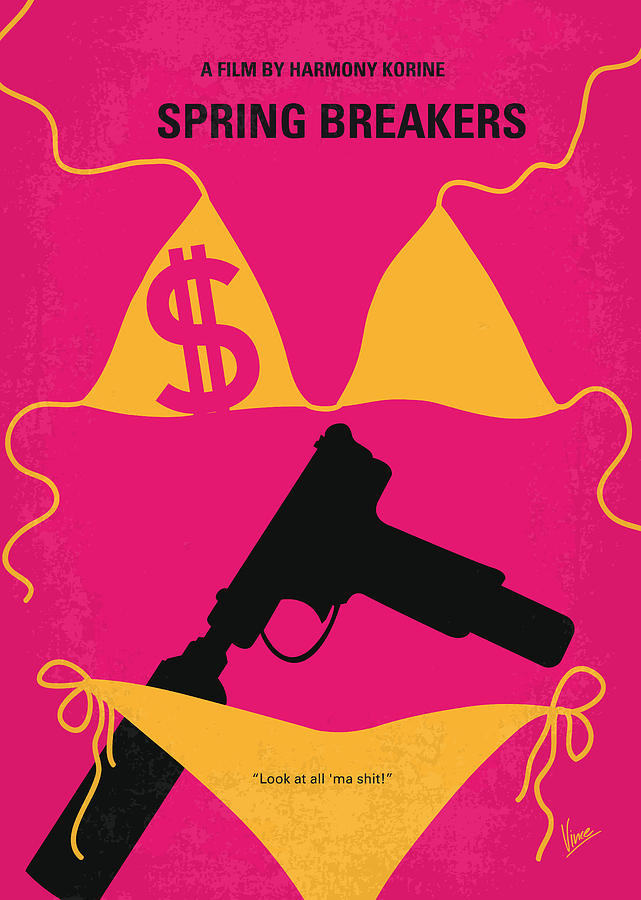 Spring Digital Art - No218 My Spring Breakers Minimal Movie Poster by Chungkong Art