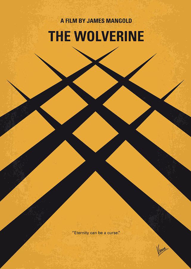 No222 My Wolverine Minimal Movie Poster Digital Art