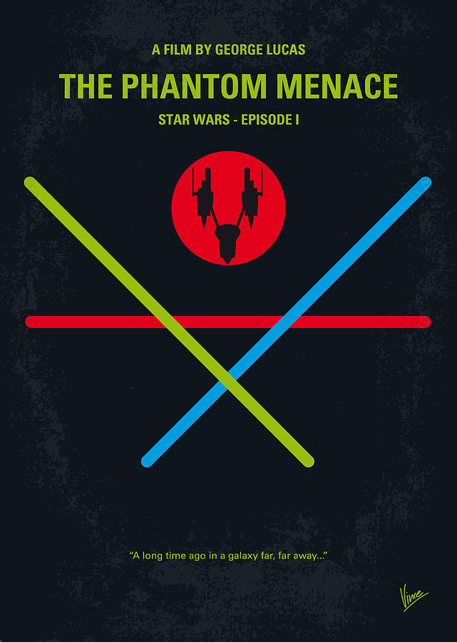 No223 My Star Wars Episode I The Phantom Menace Minimal Movie Poster Digital Art  - No223 My Star Wars Episode I The Phantom Menace Minimal Movie Poster Fine Art Print