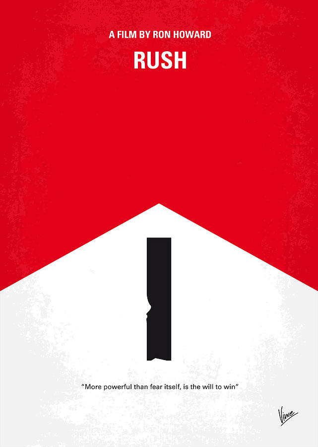 No228 My Rush Minimal Movie Poster Digital Art
